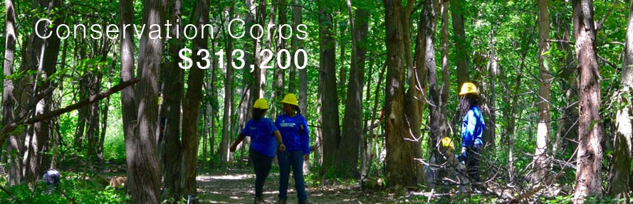 Conservation Corps is a core program area.
