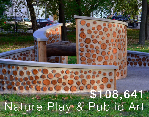 Nature Play and public art is a key program of the Forest Preserve Foundation.