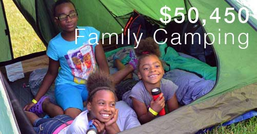 Family camping is a key program of the Forest Preserve Foundation.