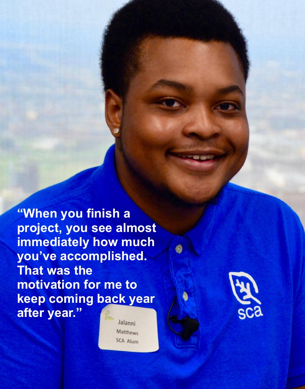SCA crew member Jalanni Matthews