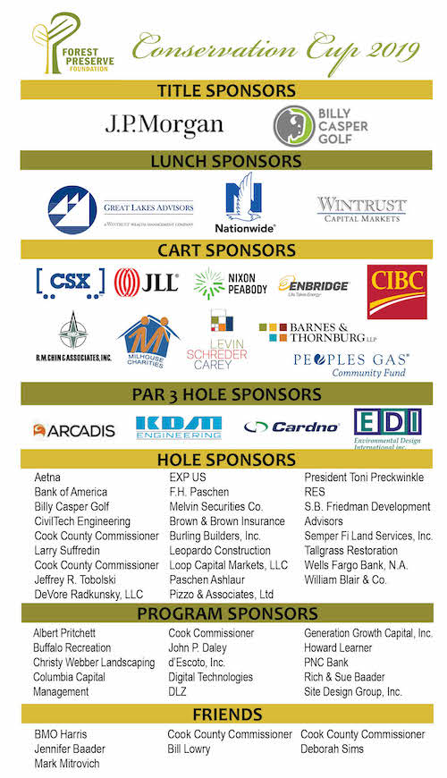 2019 Conservation Cup sponsors